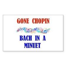 GONE CHOPIN Rectangle Decal