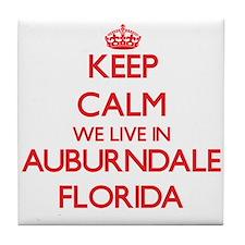Keep calm we live in Auburndale Flori Tile Coaster