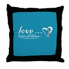Cute Faith hope and love Throw Pillow