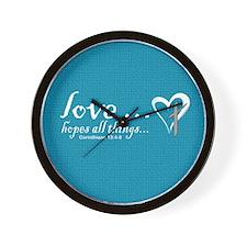 Cute Faith hope and love Wall Clock