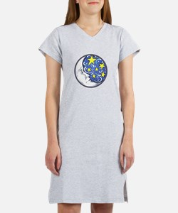 MOON AND STARS Women's Nightshirt