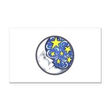 MOON AND STARS Rectangle Car Magnet