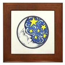 MOON AND STARS Framed Tile
