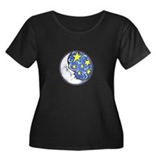 MOON AND STARS Plus Size T-Shirt