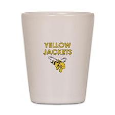 YELLOW JACKETS FULL CHEST Shot Glass