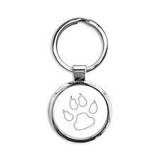 REVERSE APP CAT PAW S Keychains