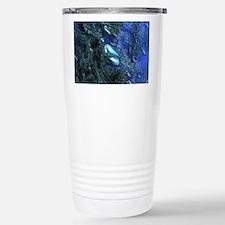 Shiny blue pebbles Travel Mug