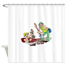 Archaeologists Shower Curtain