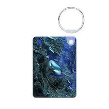 Shiny blue pebbles Keychains
