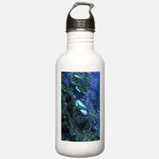 Shiny blue pebbles Water Bottle