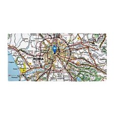 Map of Rome Italy Beach Towel