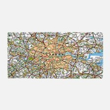 Map of London England Beach Towel