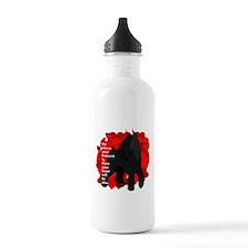 giant schnauzer hearts Water Bottle