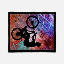 BMX Rusty Grunge Throw Blanket