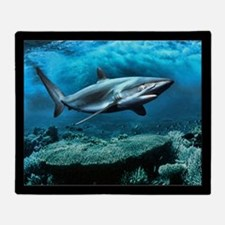 Underwater Ocean Menacing Shark Painting Blanket T