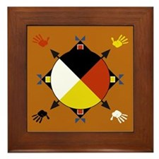Cherokee Four Directions Framed Tile