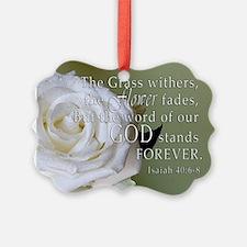 God Forever Stands Rose Ornament