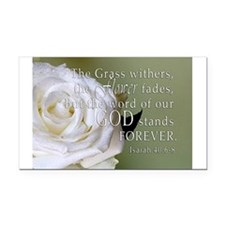 God Forever Stands Rose Rectangle Car Magnet