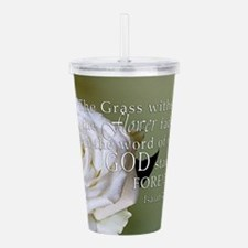 God Forever Stands Rose Acrylic Double-wall Tumble