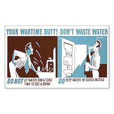 WASTE WATER vinyl sticker