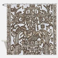 Mayan Ruler Pakal Kim Shower Curtain