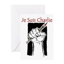 Je Suis Charlie ISIS terror Greeting Card