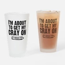Crayon Drinking Glass