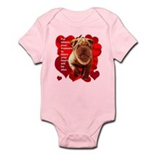 shar pei hearts Infant Bodysuit