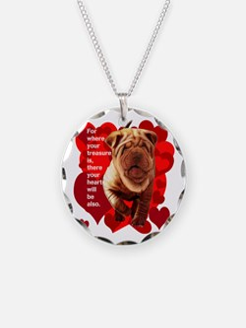 shar pei hearts Necklace