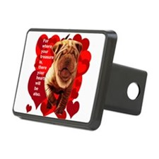 shar pei hearts Hitch Cover