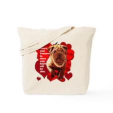 shar pei hearts Tote Bag