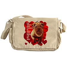 shar pei hearts Messenger Bag