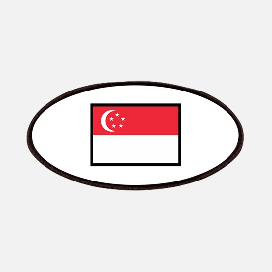 FLAG OF SINGAPORE Patches