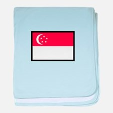 FLAG OF SINGAPORE baby blanket