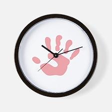 SMALL CHILDS HANDPRINT Wall Clock