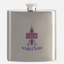 NYC CAPITAL OF THE WORLD Flask