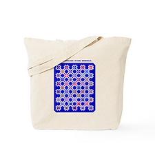 Americana Stars on Blue Tote Bag