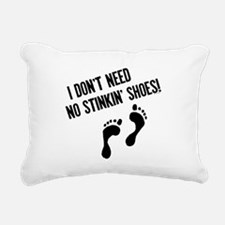 Barefoot Runner Rectangular Canvas Pillow