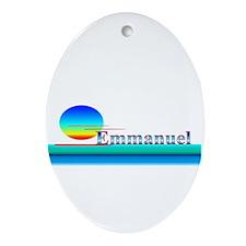 Emmanuel Oval Ornament