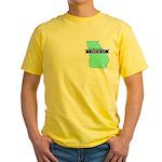 Yellow T-Shirt for a True Blue Georgia LIBERAL