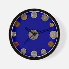 Numismatist's Wall Clock