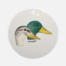 Mallard Ducks - Pair Keepsake (Round)