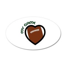 FOOTBALL MY GAME Wall Decal