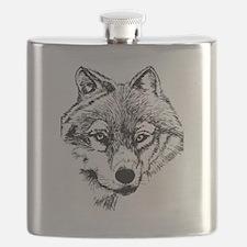Unique Lone wolf Flask