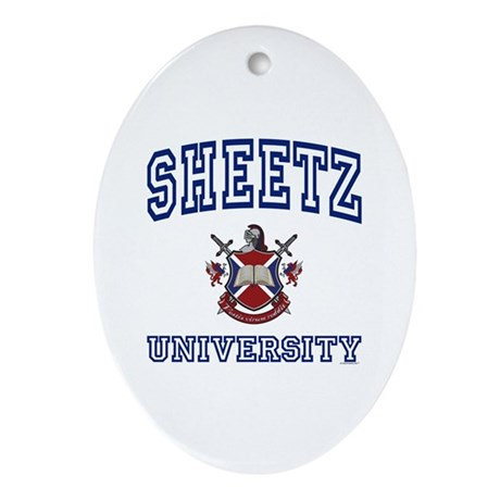 SHEETZ University Oval Ornament