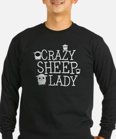 Crazy Sheep Lady Long Sleeve T-Shirt
