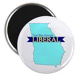 True Blue Georgia LIBERAL Magnet