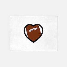 FOOTBALL HEART 5'x7'Area Rug