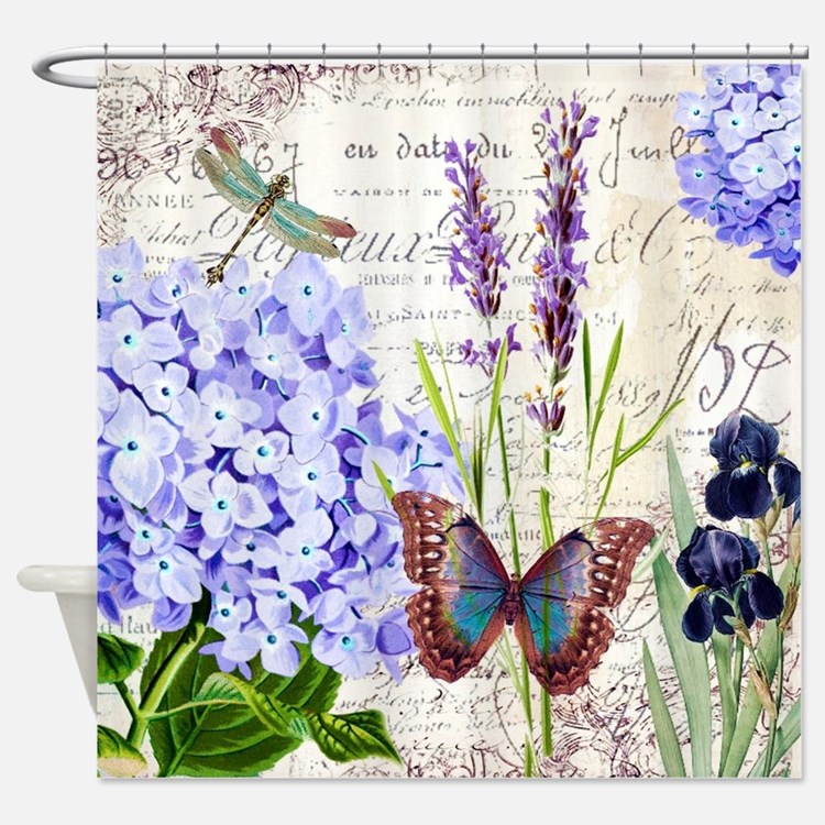 New botanical Shower Curtain