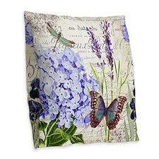 New botanical Burlap Throw Pillow